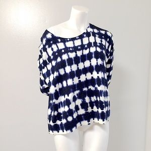 GAP Oversized Navy & White Tie Dyed Soft Sweater